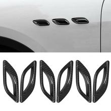 6 Stuks Side Air Vent Outlet Trim Fender Frame Cover Droge Koolstofvezel Fit Voor Maserati Quattroporte 2013 2014 2015 2016 2017-2020