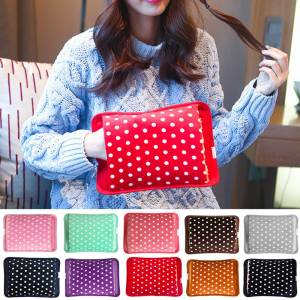 Hand-Warmer Heat-Water-Bag Velvet Polka-Dot Electric Rechargeable Eu-Plug Last 2-8-Hours-Temperature