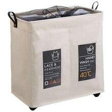 Роликовая угловая прочная корзина для грязного белья корзины для хранения хранение сумка для белья сумка