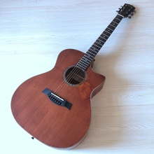 Acoustic-Guitar Wood-Top Professional 6-String Cutaway-Design Finish Matte Vintage Solid-Spruce
