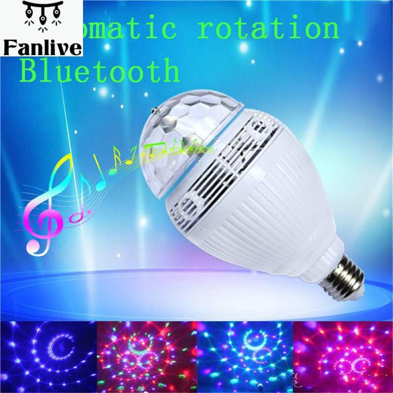 20pcs Christmas Laser Lights E27 RGB LED Bulb Bluetooth Lamp Colorful Speaker Music Lights Home Stage Energy Saving