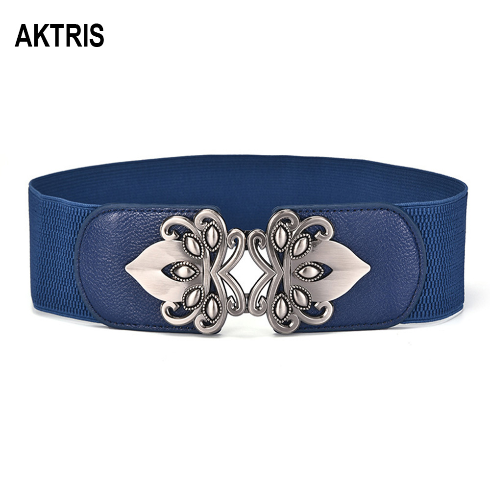 AKTRIS Fashion Quality Leather Elastic Cummerbunds Female Overcoat Wide Waist Seal Patent Down Jackets Belt For Women 2020 AK002