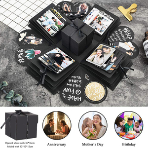 CEVENT Surprise Gift Box For Mom Friend Wife Girlfriend Daughter Manual DIY Photo Valentine's Day Party Wedding Creative Gift