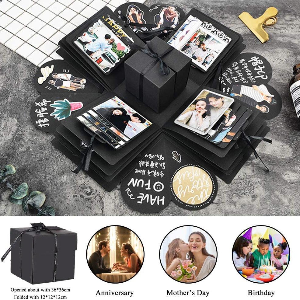 Cevent surpresa caixa de presente para mãe amiga esposa namorada filha manual diy foto do dia dos namorados festa de casamento presente criativo