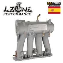 LZONE-colector de admisión de aluminio para Honda Civic CRX Del Sol SOHC Serie D CX DX EX GX JR-IM51, 1988-2000