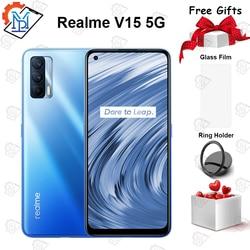 Оригинальный Новый Realme V15 5G мобильный телефон 6,4 дюймFHD + безрамочный экран SuperAMOLED 6G + 128G Dimensity 800U Octa Core 64MP быстро Зарядное устройство 50 Вт смартфон