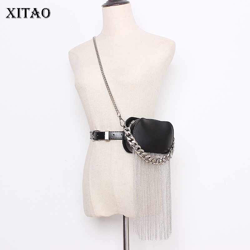 XITAO Trend Tassel Belt Bag Black Streetwear Leather Accessories Women Twotwinstyle Corset Belt For Women Wild Girdle XJ3443