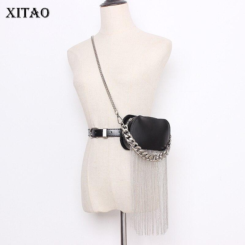 XITAO Trend Tassel Belt Bag Black Streetwear Leather Accessories Women Twotwinstyle Corset Belt For Women Wild Girdle XJ3443