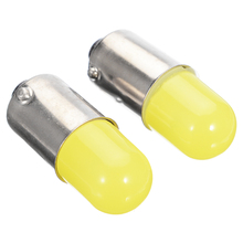 2Pcs/set BA9S T4W COB 12V LED Silica Car Turn Signal Light License Plate Bulb Parking Lights Door Lamp
