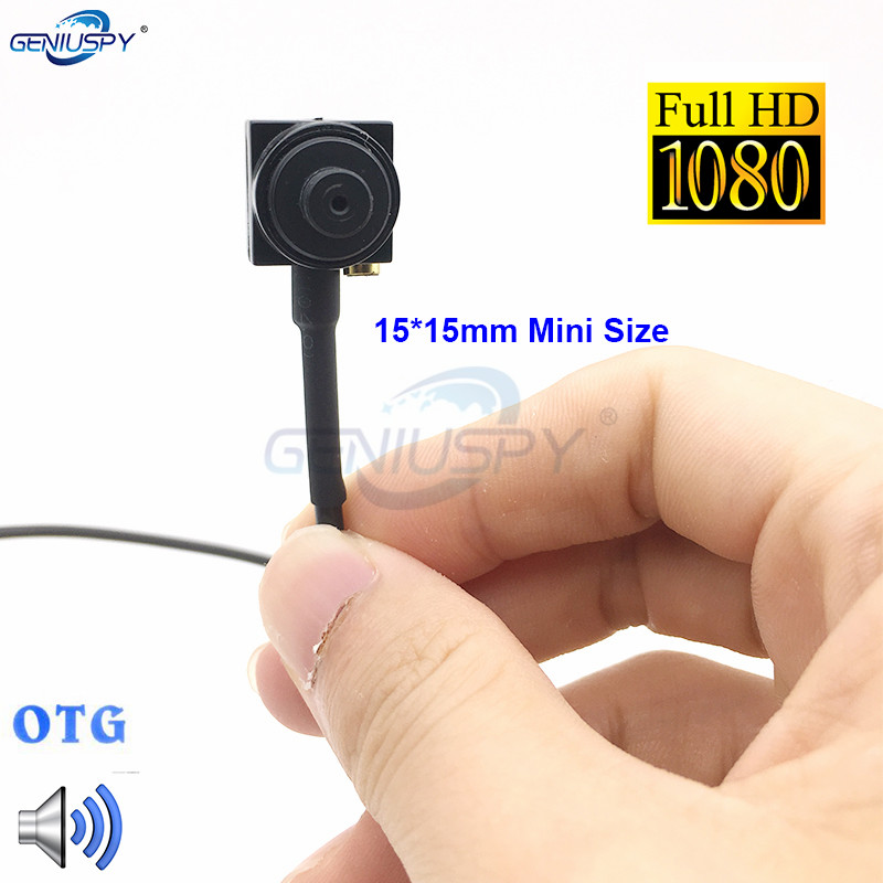 15*15mm Mini Size OTG Android 2MP 1080P Micro USB Camera With Audio1080P Mobile OTG USB Security Kamera  For Mobile Phone