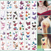 30Pcs/Set No Repeat Temporary Tattoo Stickers Waterproof Arm Clavicle Body Art Sticker Disposable butterfly tatouage temporaire 1