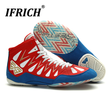 Professional Boxing Wrestling Shoes for Man Women Kids Fighting Weightlift Shoes Training Boxing Fighting Boots Unisex Combat