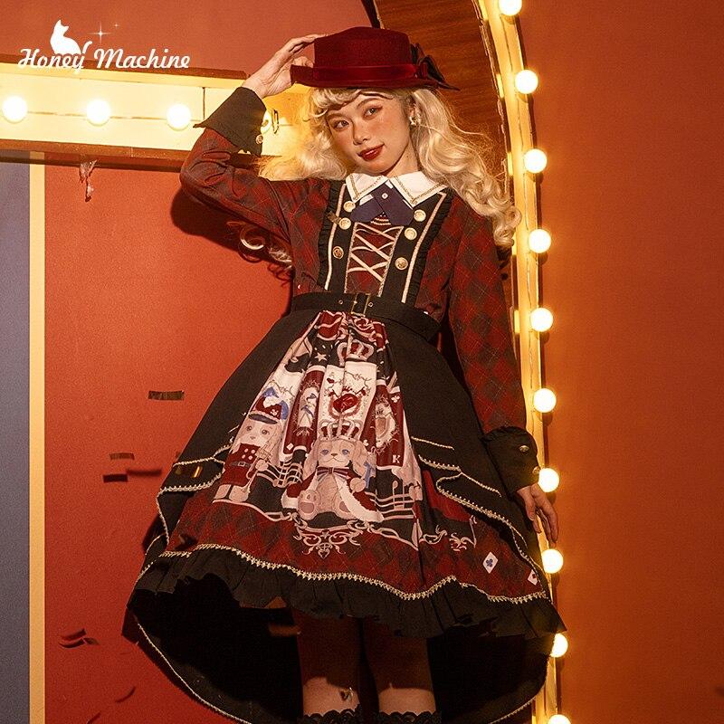 Palace princess sweet lolita dress retro peter pan collar falbala high waist victorian dress kawaii girl gothic lolita op loli