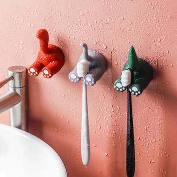 Kawaii ogon zwierzęcy szczoteczka do zębów pasta do zębów półki na ścianę Rack uchwyty do przechowywania wiszące Cartoon dzieci szczotka zęby haczyki łazienkowe tanie i dobre opinie CN (pochodzenie) Z tworzywa sztucznego