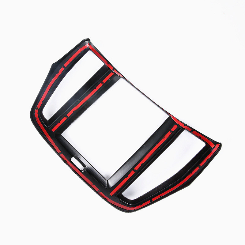 CNORICARC-Carbon-Fiber-Pattern-Styling-Control-Navigation-Panel-Cover-Trim-Frame-Chrome-Car-Accessories-For-Volvo (2)