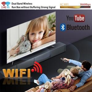 Image 2 - Transpeed android 9.0 8k 4k caixa de tv 4gb 64 youtube bluetooth 4.1 1000m 2.4g e 5g wifi amlogic s905x3 conjunto caixa de tv superior
