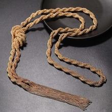 ELIfashion collier pendentif à la mode, nouveau collier en perles, chaîne torsadée en métal élégant, collier Long et pendentif