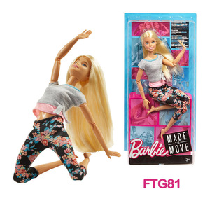 Image 4 - Barbie Original Made To Move 22 Joints Doll Yoga Movement Dolls Girls Reborn Educational Toys for Children Birthday Boneca Gift