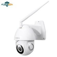 Floureon 2019 جديد 1080P كاميرا شبكية عالية الوضوح اللاسلكية واي فاي في الهواء الطلق كاميرا ذكية تتبع الحركة App كاميرا إنذار متوافق مع اليكسا