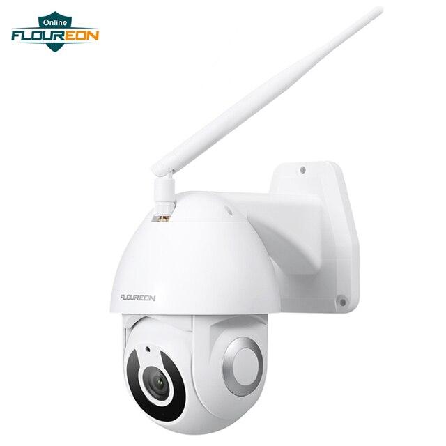 Floureon 2019 nueva 1080P HD cámara IP inalámbrica cámara exterior wi fi de movimiento inteligente aplicación de seguimiento alarma Cámara Compatible con Alexa.