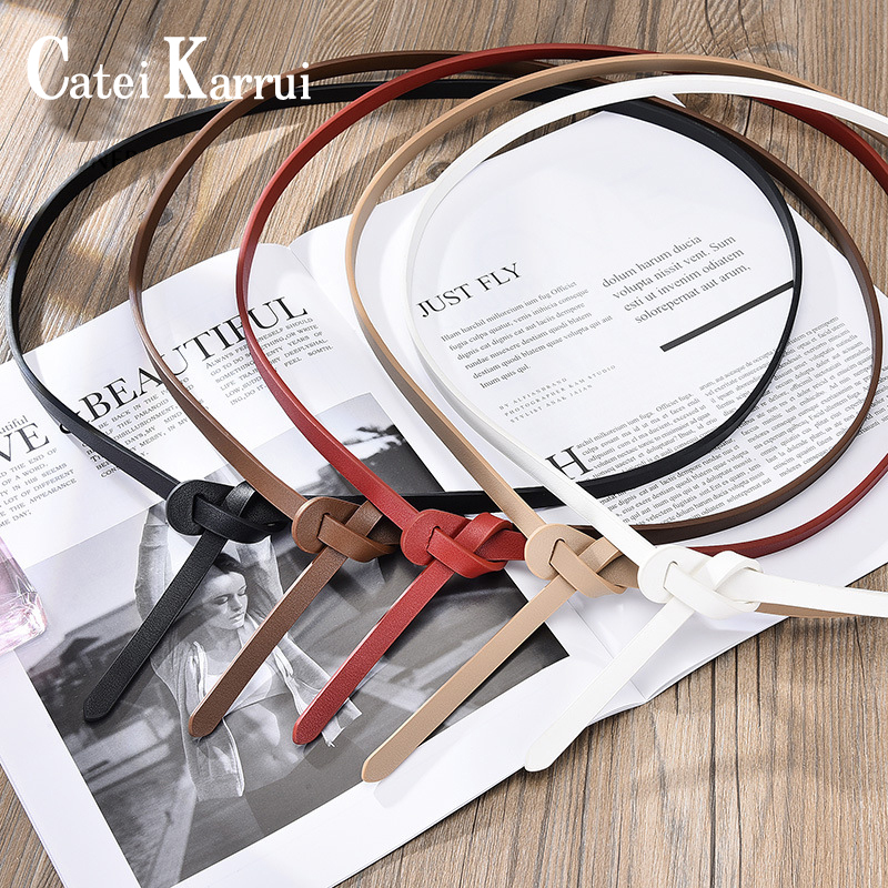 Catei Karrui Women Simple Dress Decorated  Elegant Belt Waist Skinny Dress Belts Belt For Jeans Pants Gifts