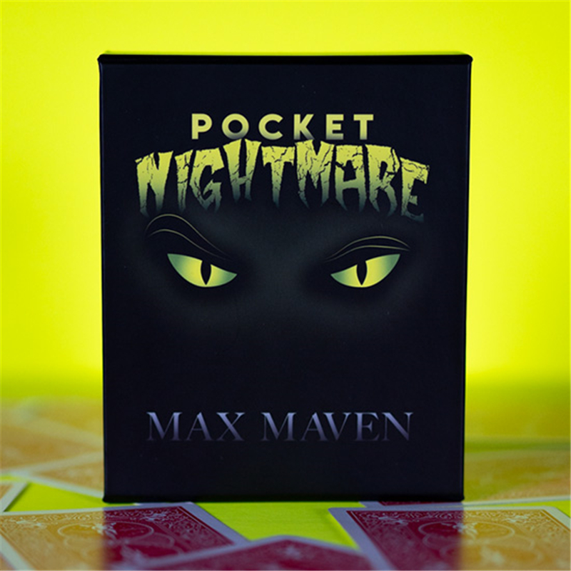 Pocket Nightmare By Max Maven Magic Tricks Stage Close-Up Magia Card Magie Mentalism Illusion Gimmicks Props Accessories
