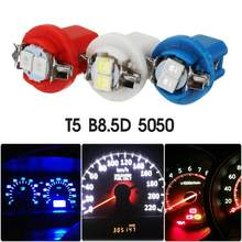 10X T5 B8.5D B8.5 SMD LED Car Light Automobiles Instrument Light Dashboard Light Bulbs Auto Interior Small Lamp(China)