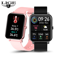 Luik Smart Horloge Mannen Full Touch Screen Sport Fitness Horloge Waterdicht Slimme Armband Band Voor Android Ios Smartwatch Mannen Relogio