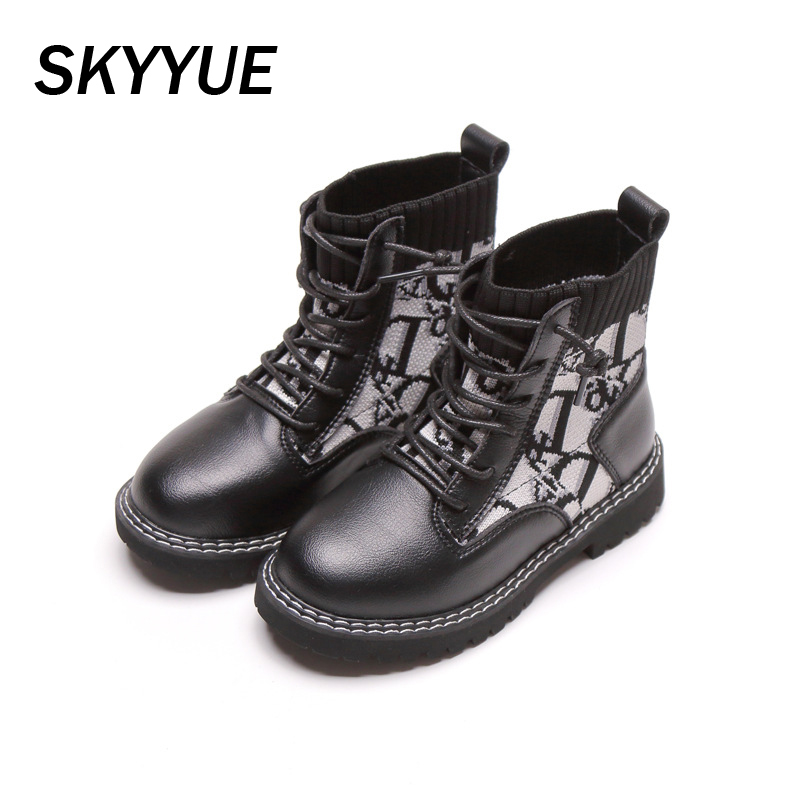 Autumn Kids Martin Boots Baby Girls Ankle Boots Children Leather Shoes Boys Brand Black Boots Soft Fashion Boots Casual Boots