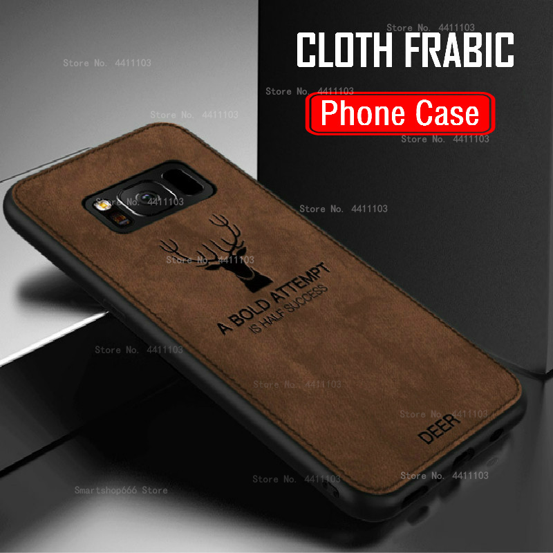 Cloth Frabic Phone Case For Samsung Galaxy A50 A30 A70 M20 S10E S10 S8 S9 Plus A6 A8 Plus J4 J6 A9 A7 2018 Note 9 8 Cover Coque|Fitted Cases| |  - title=