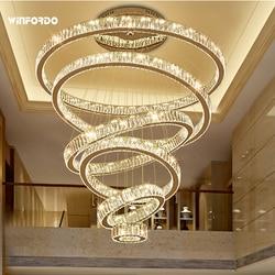 2021 Luxury Modern Chandelier Lighting Large Stair Light LED Crystal Lamp For Home Decoration Lighting Fixtures