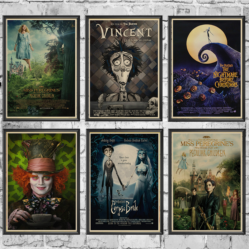 Tim Burton Movie Posters.The Corpse Bride. Johnny Depp Vintage Retro Matte Kraft Paper Antique Poster Wall Sticker Home