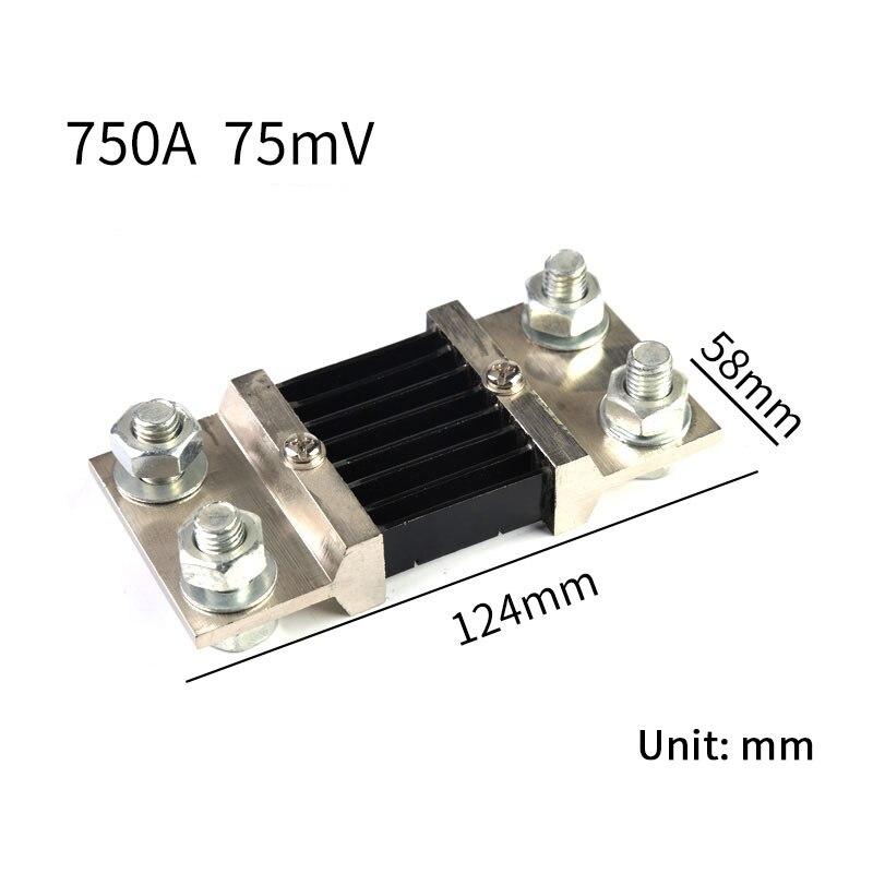 1 шт. внешний шунт, класс А, рандомный Амперметр 750A/75мв, шунтирующий резистор для цифрового амперметра, вольтметра амперметра, измерителя мощ...