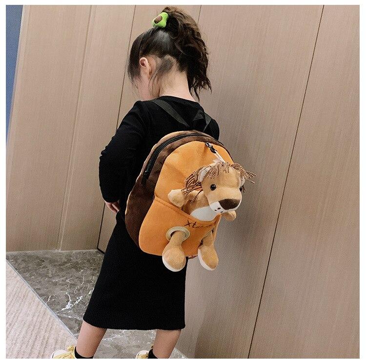 tigre girafa saco de escola criança destacável