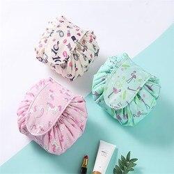 Korean Flush Makeup Organizer Travel Artifact Small Fresh Storage Bag Creative Colorful Rope Makeup Jewerly Storage Case