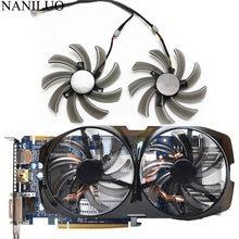 Novo 95mm pld10010s12h cooler fan substituição para gigabyte hd 7850 radon r9 270 gtx 670 650 660ti 550 placa gráfica t129215sm