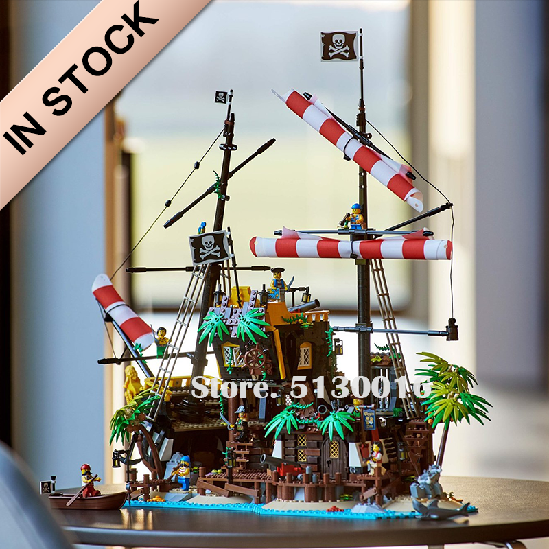 In Stock 21322 Pirates Of Barracuda Bay 698998 Pirate Theme Series Ideas 2545PCS Model Building Blocks Bricks Toys