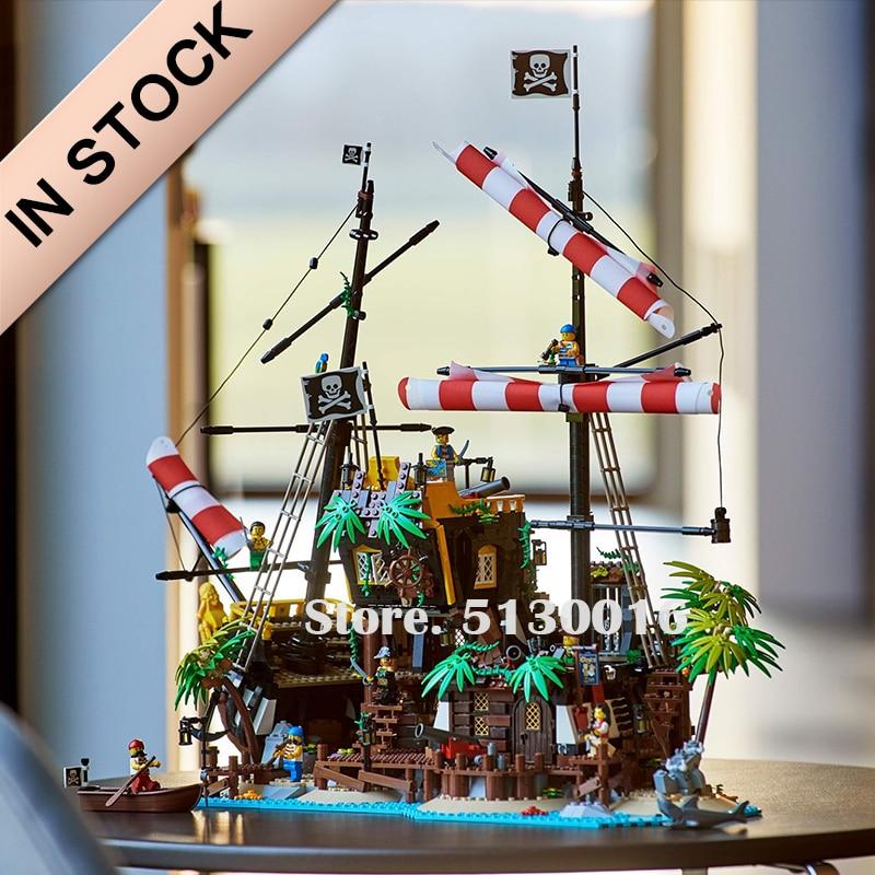 In Stock 21322 Pirates Of Barracuda Bay 698998 Pirate Theme Series Ideas 2545PCS Model Building Blocks Bricks Toys