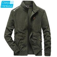 DARPHINKASA Winter Warm Fleece Jacket Men 2020 New Brand Casual Fashion Thick Men Parkas Jacket Coat Plus Size 5Xl