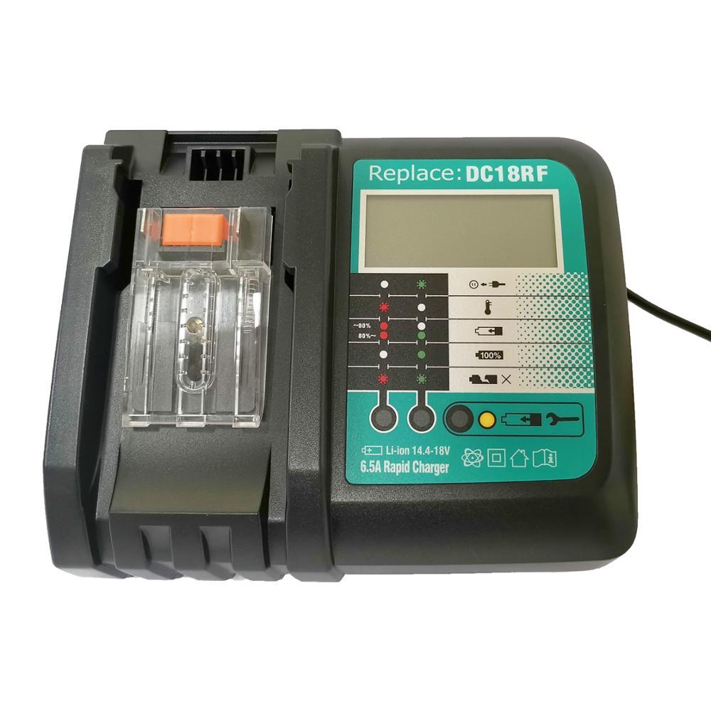 Зарядное устройство для Makita BL1415, 1420,1830,1840,1850,1860 Электроинструмент с экраном дисплея и usb портом 14В 18В 6А|Зарядные устройства|   | АлиЭкспресс