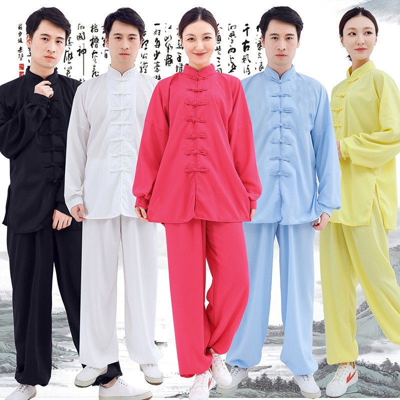 NEW Tai Chi Clothing Martial Arts Kung Fu Clothing Cotton And Linen Training Clothes For Men And Women Spring And Autumn Suits