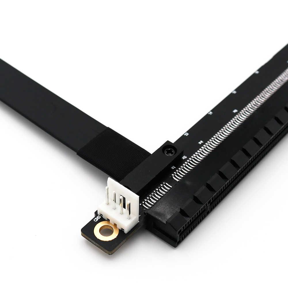 PCIE 1X TO 16X Esnek Uzatma Kablosu PCI Express 1X16 X Adaptörü PCIE yükseltici kart uzatıcısı SATA IDE 4Pin güç için