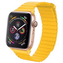 42mm 38mm Leather Loop For Apple watch band strap 4 44mm 40mm iwatch correa 3/2/1 bracelet watchband Magnetic Closure wrist belt цена
