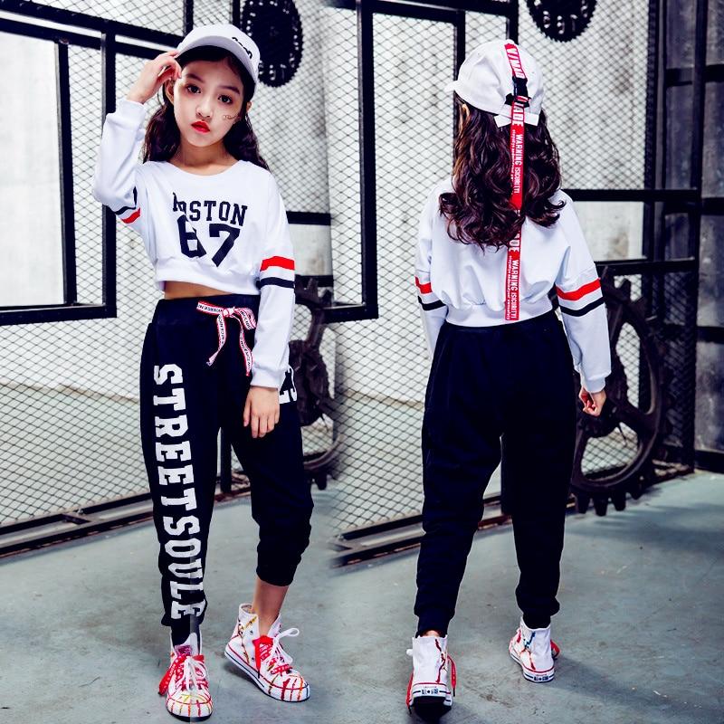 소녀 새로운 어린이 힙합 재즈 댄스 의상 정장 힙합 힙합 성능 의류 소녀 현대 무용 옷 3 색