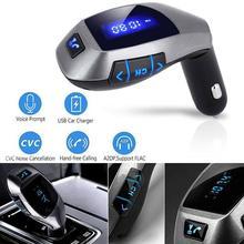 Fm-передатчик Bluetooth автомобильный комплект беспроводной радио адаптер fm-модулятор Handsfree Музыка Mp3 Usb плеер аудио для смартфонов VS G7