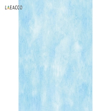 Laeacco Gradient Solid Color Light Blue Portrait Baby Photography Backgrounds Customized Photographic Backdrops For Photo Studio