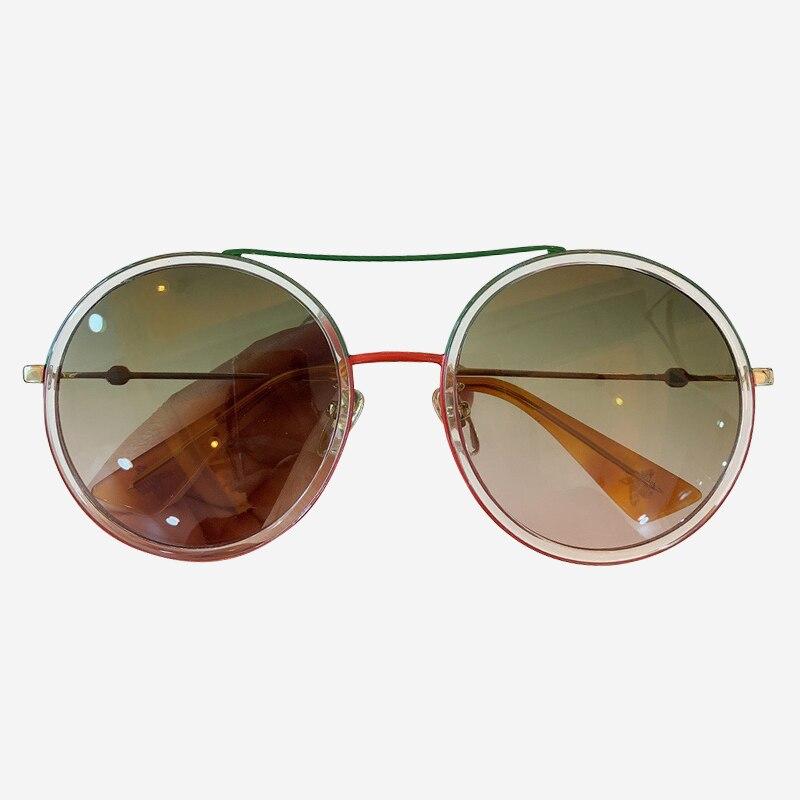 Óculos de sol Das Mulheres/Homens 2019 Do Vintage Rodada Óculos de Sol Feixe Duplo Marca Designer lentes óculos de sol hombre/mujer UV400