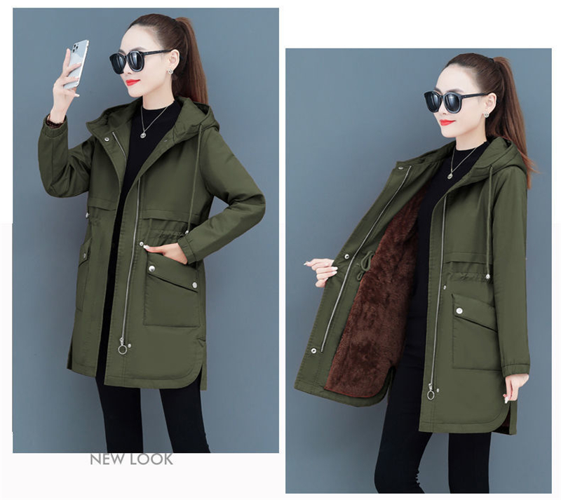 Hb379bdf484ec4da0a1f2f3c920286738k NEW2021 Women Parkas Fashion Coat Elegant Winter Mid Long Cotton Jacket Plus velvet thickening Hooded Collar Female Snow Outwear