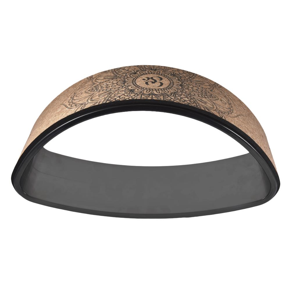Yoga Wheel Bent Back Stretch Natural Cork Solid Fitness Wheel Pilates Ring Sturdy Wheel Yoga Training  Wheel Supplies
