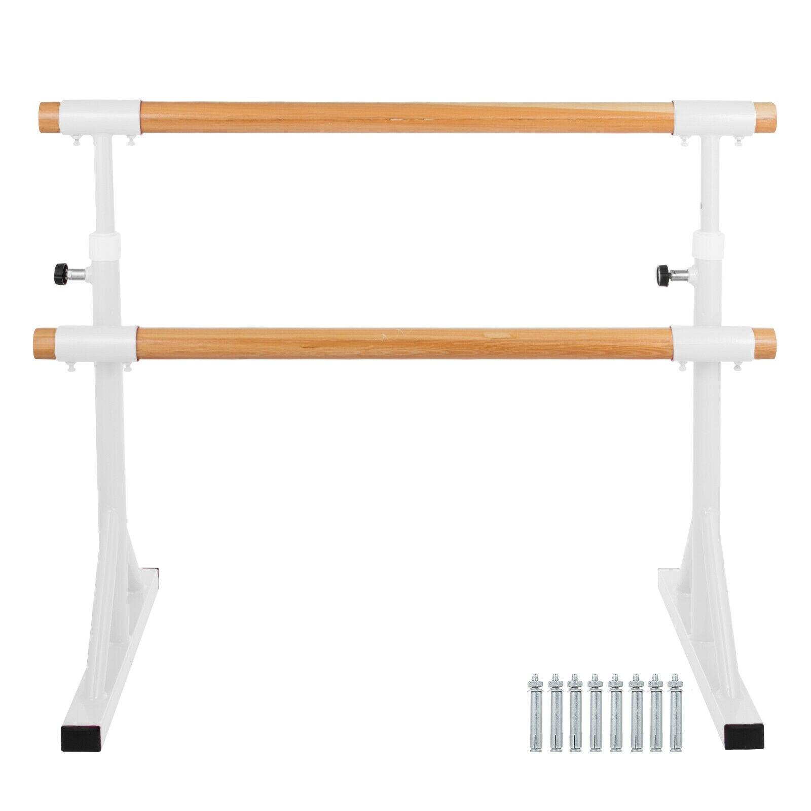 4FT Ballet Barre Portable Double Freestanding Stretch Dance Bar Adjustable Home